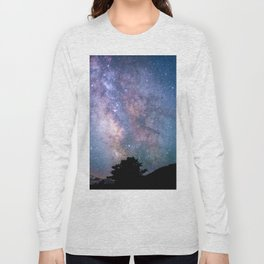 The Night Sky II - glowing stars Long Sleeve T-shirt