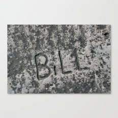 Bill Canvas Print