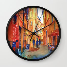 Pizzeria in Rome Wall Clock