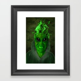 GREEN PLANET ALIEN (Us And Them) Framed Art Print