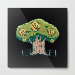 Bitcoin Tree Best Gift Metal Print