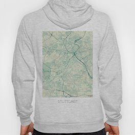Stuttgart Map Blue Vintage Hoody