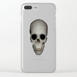 Human Skull Vector Isolated Clear iPhone Case