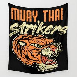 Muay Thai Strikers Tiger Kickboxing MMA Material Arts Judo Karate Gift Wall Tapestry