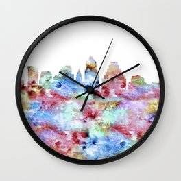 Austin Skyline Texas Wall Clock
