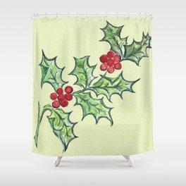 Holly Sprig III Shower Curtain