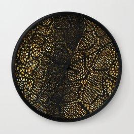 Black Gold Snake Skin Wall Clock