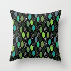 Modern Abstract Leaf Pattern Throw Pillow