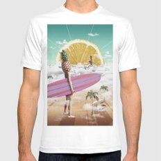 Sweet Surfing MEDIUM Mens Fitted Tee White