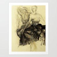 degas Art Prints featuring Hommage à Degas I by Ute Rathmann