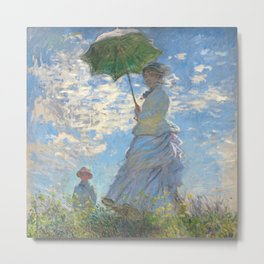 Monet - Madame Monet and Her Son - 1875 Metal Print