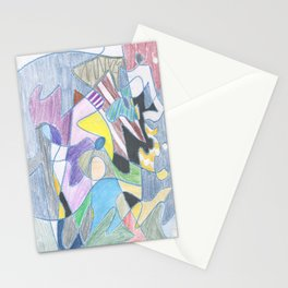 Abstract Color Doodle Stationery Cards