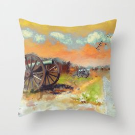 Days Of Discontent Throw Pillow
