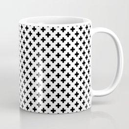 Small Black Crosses on White Coffee Mug