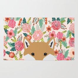 Shiba Inu floral dog face cute peeking shiba inus gifts Rug