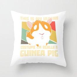 I'm really a guinea pig Throw Pillow