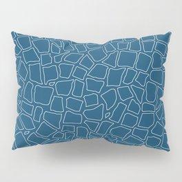British Mosaic Blue Print Pillow Sham