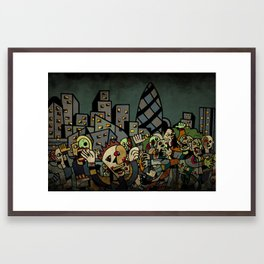 Zombies! Framed Art Print