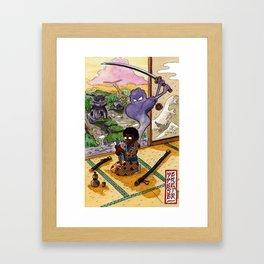 Banzaï Framed Art Print