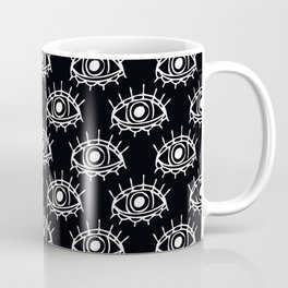 Eye of wisdom pattern - Black & White - Mix & Match with Simplicity of Life Coffee Mug
