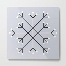 Mod Snowflake Frost Metal Print