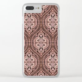Copper Tribal Lace Ogee Clear iPhone Case