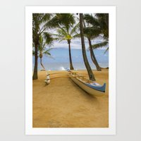 Hawaiian Outrigger Canoe Art Print