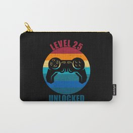 Level 25 Unlocked 25th Birthday 25 Year Old Gift Carry-All Pouch