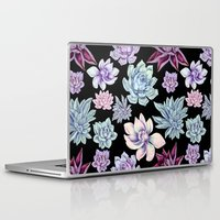 succulents Laptop & iPad Skins featuring Succulents by Miranda Montes