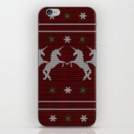 Einhorn X-Mas iPhone Skin