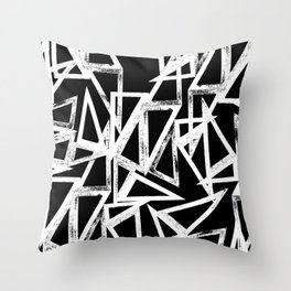 stamp triangle Throw Pillow