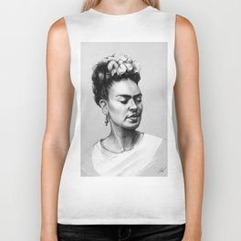 Portrait of Frida Kahlo Biker Tank