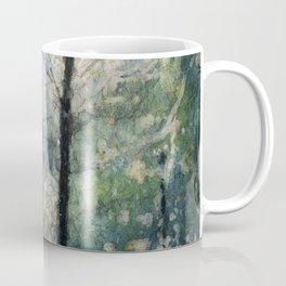 Watercolor batik on rice paper of bridge at Sarah P. Duke Gardens- Durham, NC Coffee Mug
