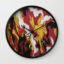 Fire Dragon Wall Clock