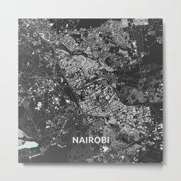 Nairobi, Kenia street map Metal Print