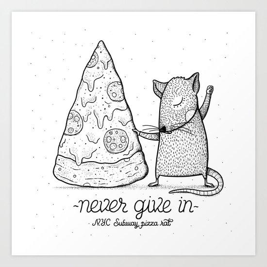 Pizza Rat Art Print