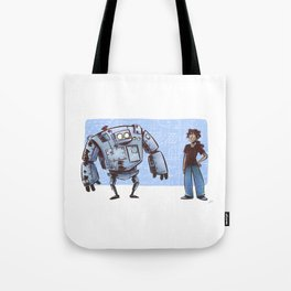 A Girl and her Robot Tote Bag