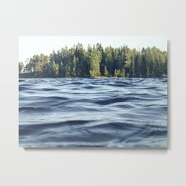 Summer Forest Lake Metal Print