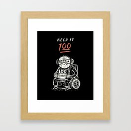 keep it 100 Framed Art Print