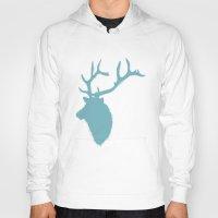elk Hoodies featuring Elk by marissaspratt
