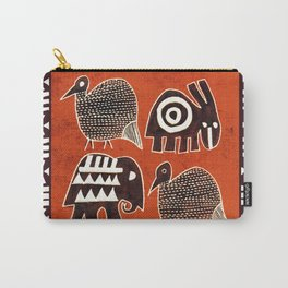 African Animal Folk Art Carry-All Pouch