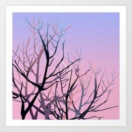 Tree skull Art Print