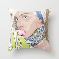 artrave Throw Pillows featuring artRAVE FREAKshow by AdamAether