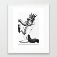 wild things Framed Art Prints featuring Wild things by MrWhite