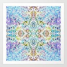Mehndi Ethnic Style G356 Art Print