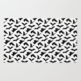 Bat Pattern - White Rug