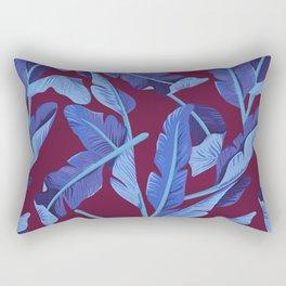 Tropical '17 - Blue Bird Of Paradise [Banana Leaves] Rectangular Pillow
