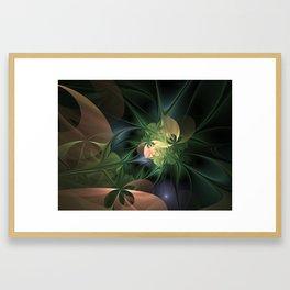 Fractal Floral Fantasy Framed Art Print