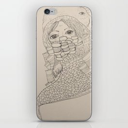 Fish boy by paigemox iPhone Skin