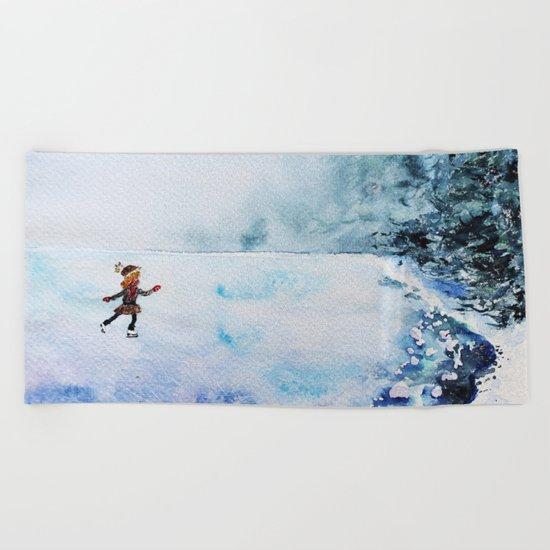 Winter fun Beach Towel